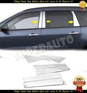 For 2009-2017 Chevrolet Traverse Chrome Stainless Steel Door Pillar Trims 6pcs