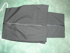Tuxedo Pants100% Wool Double Pleated Formal Dress Slacks black  SZ 37W x 31 1/2L