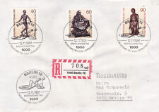 West Berlin 1981 20th Century Sculptures Set FDC Registered Mail VGC