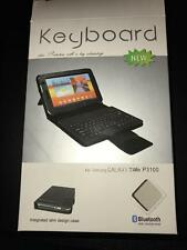 "Bluetooth Keyboard Leather Carry Case/Stand for 7"" Inch HTC Flyer EVO View 4G"