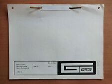ORIG. Ersatzteilliste GUTBROD Balken-Mäher BM 70 auch Motor AV 520 Ausgabe 1975