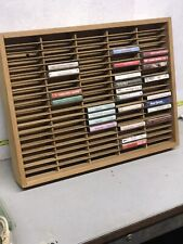 Napa Valley Box Company Wooden Cassette Tape Wall Storage Case Vintage 100