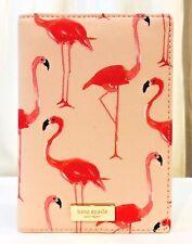 Kate Spade Flamingo Print Pink Passport Holder Case Shore Street New & Authentic