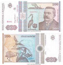 Rumanía 200 Lei 1992 baja los números de serie 000xxx P-100 Billetes Unc