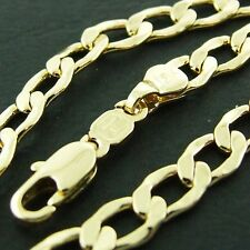 NECKLACE PENDANT CHAIN GENUINE REAL 18K YELLOW G/F GOLD SOLID CURB LINK DESIGN