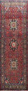 Vintage Traditional Handmade Geometric Runner Rug Hallway Oriental 3'x10' Carpet