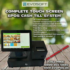 Complete Touch Screen POS EPOS cash till system - NO MONTHLY FEES