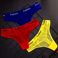 Women Fashion Sport Thongs G-String Sexy Mesh Seamless Briefs Panties Underwear