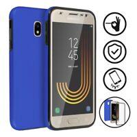 Coque protection integrale rigide 360 anti choc Bleu pour Samsung Galaxy J3 2016