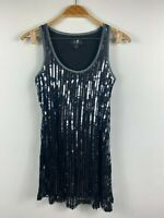 Caroline Morgan CKM Womens Dress Size Small (Au 8-10) Black Sequin Sleeveless