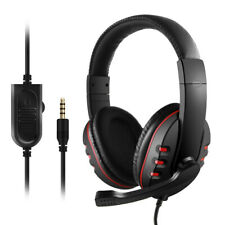 For PS4 PC Stereo Laptop 3.5mm Wired Gaming Headsets Bass Stereo Headphones MIC