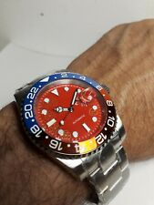 Submariner Automatico 40 mm W.R.10 atm Zaffiro Corona Vite Watch Nuovo