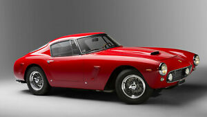 1962 Ferrari 250 GT Red Style Auto Car Art Silk Wall Poster 24x36""