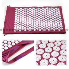 Purple Acupressure Mat Yoga Reduce Pain Tension Blood Relief Feet Rest AU