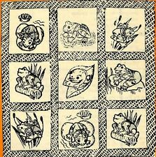 Vintage Embroidery transfer repo 435 Frogs for 59x86 inch Quilt Pattern 1960s