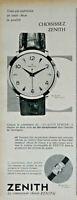 PUBLICITÉ DE PRESSE 1957 MONTRES ZENITH ZO 3031 PRÉCISION ÉLÉGANCE