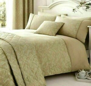 Serene Cotton Rich Duvet Cover & Standard Pillow Cases Super King Ebony Natural