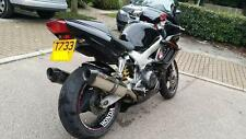 HONDA VTR1000 Firestorm Stainless Tri-Oval Carbon Outlet Road Legal Exhausts Can