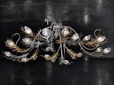 Plafoniera classica di design nichel e oro coll. BELL musa 1812/PL16L