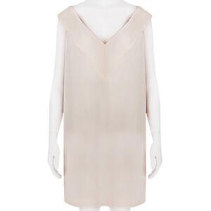 Christopher Kane Pale Powder Pink Simple V Neckline Dress UK10 IT42