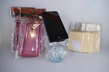 ORIGINAL VERIZON DROID INCREDIBLE + 10 SCREEN PROTECTORS & 3 PINK BLING CASES