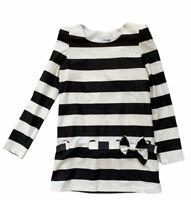 Chanel Vtg Blouse Sz Medium Black White Stripe Belted Bow Accent Shoulder Pads