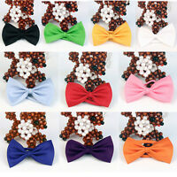 Hot Men's Solid Color Tuxedo Classic Bowtie Wedding Satin Bow Tie NeckwearCSH