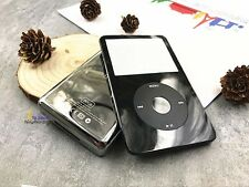 black faceplate metal back case housing click wheel for ipod 5th gen video 80gb
