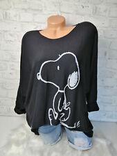 Italy Pulli Snoopy Gr.36 38 40 42 Shirt Pullover schwarz blogger Oversized