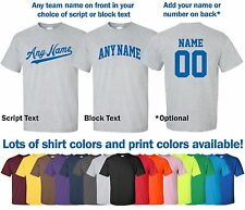 """Sports League"" T-Shirt S-4XL rec softball baseball kickball basketball ANY NAME"