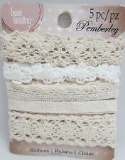 Pemberley Miniature 6 off white Lace trim Pieces