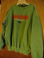 Nautica men's size L green sweatshirt cotton blend 90's burgundy letters VTG 90s