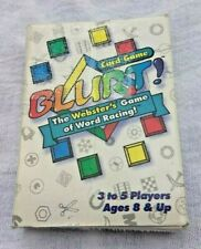 Blurt! The Webster's Game of Word Racing! Card Game (Hard to Find)