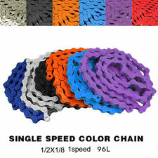 Cycling Chain  1/2 x 1/8 Single Speed Coloured Bicycle BMX MTB Bike Chain Part