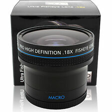 0.18x Ultra Fisheye Wide Angle Macro Lens For Nikon & Canon 18-55mm Lens / DSLR