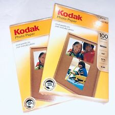 100 Sheets Sealed KODAK 4x6 Glossy Photo Paper 44lb / 6 mil *LOT OF 2*