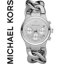 NEU+OVP: MICHAEL KORS MK3149 Damen Uhr Chronograph Runway Twist, Silberfarben