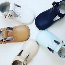 spanish boy girl shoes prince T bar grey navy cream 2 3 4  5 6 18 19 20 21 22 23