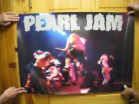 Pearl Jam Poster Band Shot Psychedelic Ten Vintage Huge Concert