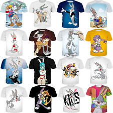 Women Men Sexy Bugs Bunny Looney Tunes 3D T-Shirt Short Sleeve Cartoon Tee Tops