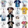 Women Men Sexy Bugs Bunny Looney Tunes 3D T-Shirt Short Sleeve Cartoon Tee Tops