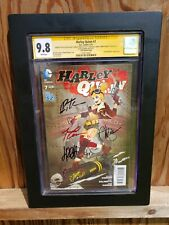 HARLEY QUINN #7 BOMBSHELLS VARIANT 5X SIGNED LUCIA TIMM CONNER CGC SS 9.8 2014