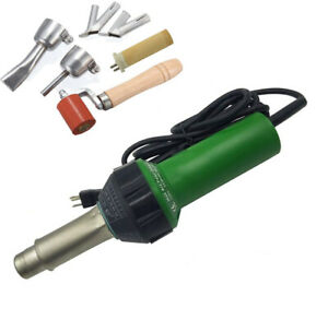 1600W Electric Heat Gun Hot Air Blast Torch Plastic Welding Gun Welder Kit
