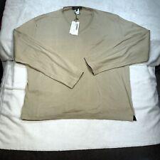 Di Ripabianca Mens XL Long Sleeve V Neck Jumper Tan
