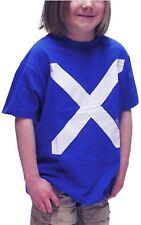 Kids T-Shirt Scotland Saltire Cross Flag Navy Size 5-6 years