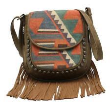 Blazin Roxx Western Women Messenger Bag Concealed Fringe Fabric Multi N770006497
