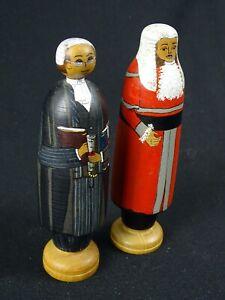 2 Sassafras Wooden Statues The Deepings Woodturner & Marie Boots Dolls Tasmania