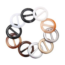 20pcs Women Scarves Tee Shirt Clip Ring Resin Round Clothes Scarves Hats Ring