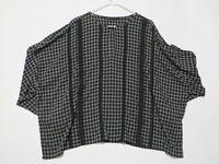 ZARA Women's long sleeve KEY hole over size blouse Size L