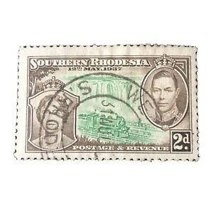 SOUTHERN RHODESIA, SCOTT # 39, 2p. VALUE CORONATION 1937 ISSUE USED